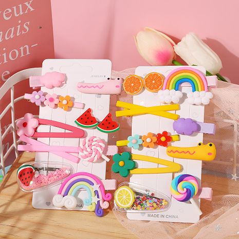 color side clip cute girl baby small hairpin Korean girl hairpin children's clip wholesale nihaojewelry NHPJ232501's discount tags