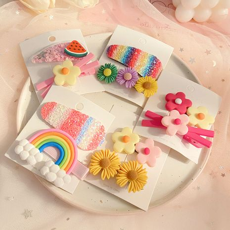 Korea cute princess girl hairpin baby hair clip girl headdress wholesale nihaojewelry NHPJ232506's discount tags