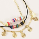 woven soft ceramic rice beads multilayer suit anklet creative bohemian beach chain jewelry wholesale nihaojewelry NHLA232512