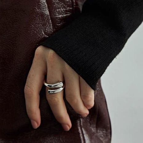 simple irregular ring fashion brass opening ring wholesale nihaojewelry NHYQ232521's discount tags