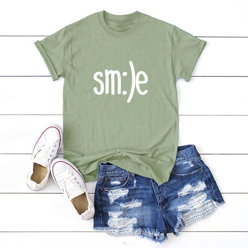 simple women's T-shirt cotton comfortable short sleeve t-shirt wholesale nihaojewelry NHSN232524