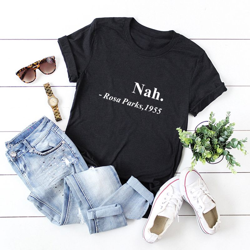 womens plus size round neck cotton comfortable short sleeve top womens Tshirt wholesale nihaojewelry NHSN232533