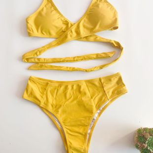 new bikini sexy high waist was thin cross tether bikinii hot sale wholesale nihaojewelry NHHL232608's discount tags