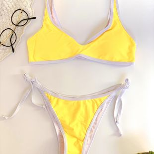 new solid color nylon high elastic bikini tether adjustable swimsuit hot sale wholesale nihaojewelry NHHL232623's discount tags