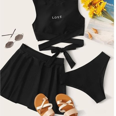 maillot de bain fendu dames conservateur jupe maillot de bain sexy couverture ventre printemps chaud vacances maillot de bain en gros nihaojewelry NHHL232651's discount tags
