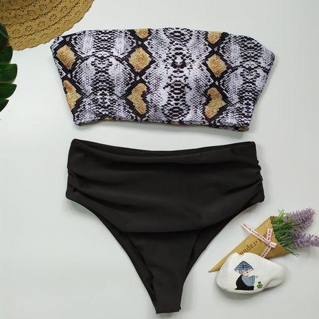 maillot de bain imprimé léopard bikini dames split maillot de bain taille haute bikini nouveau maillot de bain en gros nihaojewelry NHHL232654's discount tags