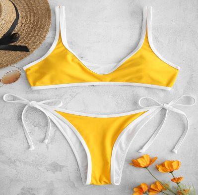 new hot sale bikini nylon high elasticity package white edge lace bikini wholesale nihaojewelry NHHL232656's discount tags