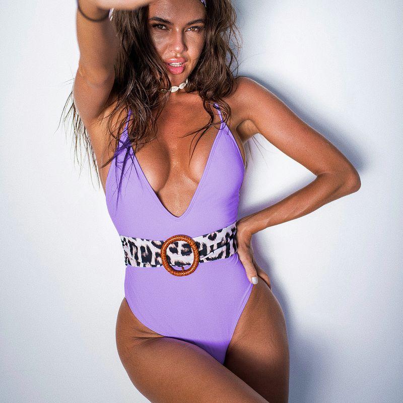 new bikini ladies one-piece swimsuit hot sale swimwear swimsuit wholesale nihaojewelry NHDA232663