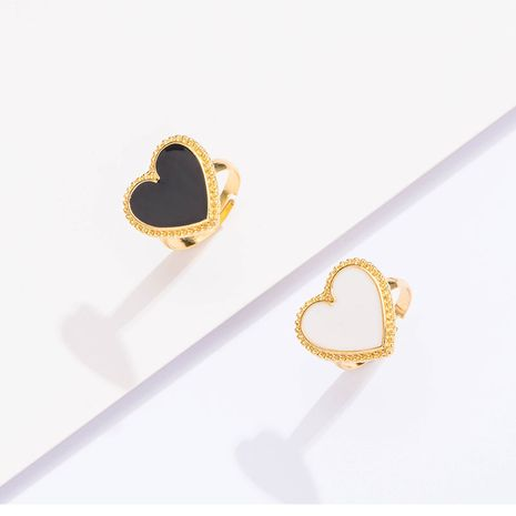 new ring ladies street shooting trend love ring fashion open punk oil drop ring women NHOT232901's discount tags