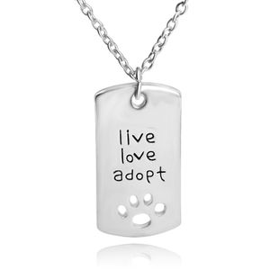 new style necklace pet live love adopt hollow out dog claw pendant necklace clavicle chain accessories wholesale nihaojewelry NHCU232740's discount tags