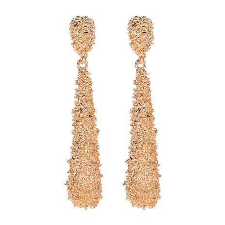 nouvelles boucles d'oreilles en métal exagéré boucles d'oreilles longues givrées en forme de goutte boucles d'oreilles longues bandes en gros nihaojewelry NHCU232743's discount tags