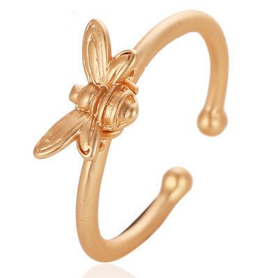 creative small bee simple ring sub-gold opening animal ring wholesale nihaojewelry NHCU232747's discount tags