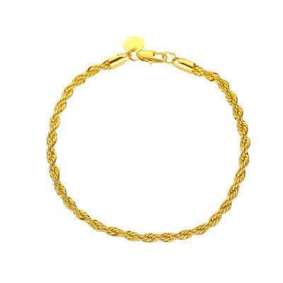 New  Hot Selling Simple Woven Twist Bracelet Ms Retro Metal Couple Bracelet Accessories wholesale nihaojewelry NHCU232761's discount tags