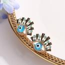 nouvelle mode yeux bleus boucles d39oreilles incrusts strass yeux boucles d39oreilles en gros nihaojewelry NHCU232766
