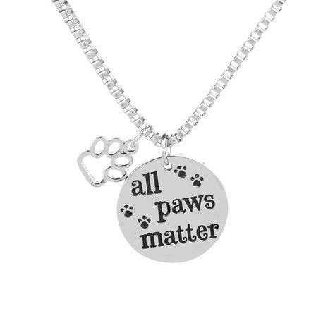 fashion creative dog tag All Paws Matter dog paw footprint necklace wholesale nihaojewelry NHCU232767's discount tags
