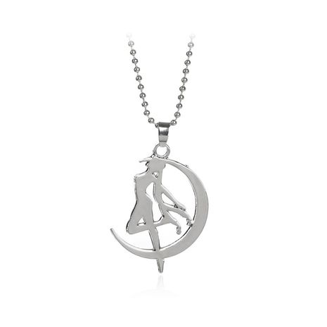 hot selling necklace anime around beautiful girl warrior pendant sweater chain accessories wholesale nihaojewelry NHCU232770's discount tags