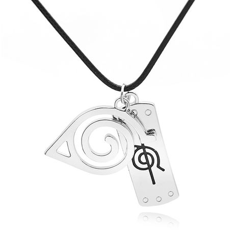 vortex tag necklace fashion necklace accessories Naruto logo treason necklace wholesale nihaojewelry NHCU232778's discount tags