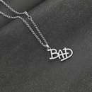 English alphabet necklace Michael Jackson MJBAD pendant necklace wholesale nihaojewelry NHCU232790