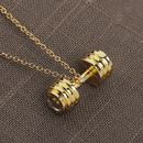 hot sale fitness master necklace men and women fun fitness sports barbell pendant necklace clavicle chain accessories wholesale nihaojewelry NHCU232796