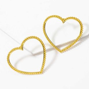 exaggerated heart stud earrings new fashion gold-plated love earrings fashion street beat punk style earrings  NHOT232897's discount tags