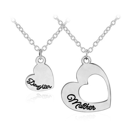 Hot Mother Daughter Mother's Day Hollow Love Pendant Necklace wholesale nihaojewelry NHCU232799's discount tags