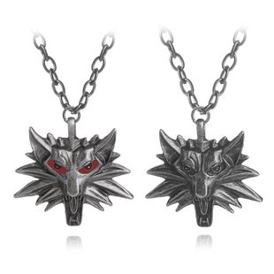 hot selling games around witcher sorcerer wolf head men's pendant necklace accessories wholesale nihaojewelry NHCU232800's discount tags