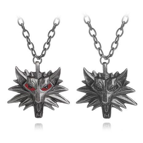 vente chaude jeux autour de sorceleur sorcier tête de loup hommes pendentif collier accessoires en gros nihaojewelry NHCU232800's discount tags