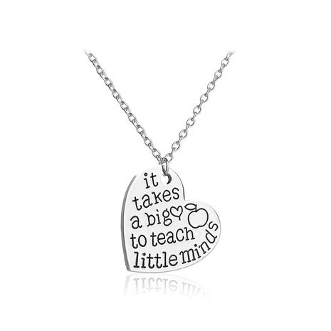 English letters It Takes a big to teach little minds love necklace wholesale nihaojewelry NHCU232802's discount tags