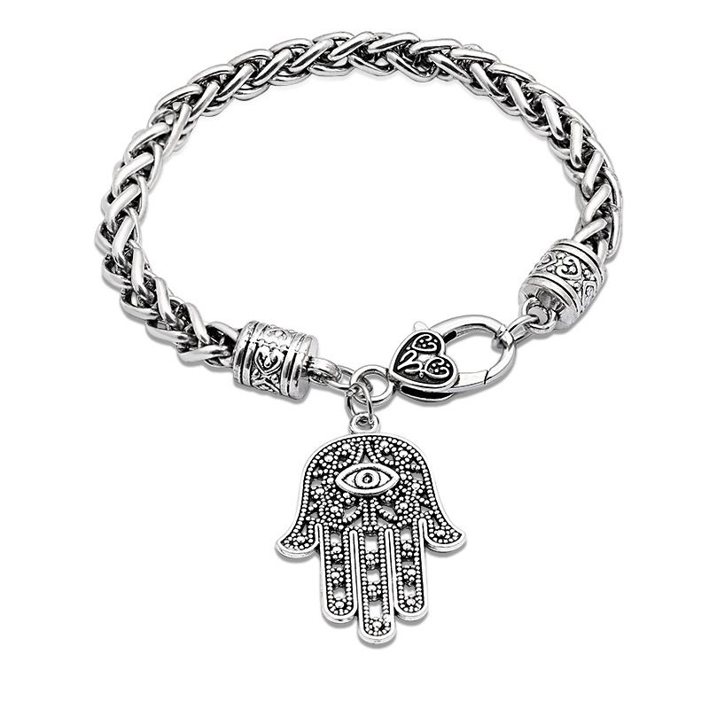 Wild Punk Slap Pendant Bracelet Bracelet Hand Jewelry Accessories wholesale nihaojewelry NHCU232806