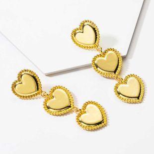 pendientes largos de corazón exagerado nuevos pendientes de amor de estilo punk pendientes de amor de moda para mujer NHOT232896's discount tags