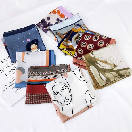 small square scarf small scarf spring and summer summer Korean small scarf turban professional scarf decorative hair band wholesale nihaojewelry NHMN232839's discount tags