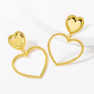 exaggerated earrings new punk style love earrings ladies fashion gold-plated heart earrings women NHOT232884's discount tags