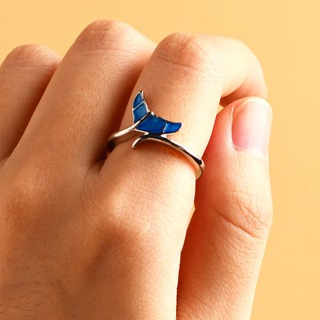 new ring ladies fashion women's dolphin tail ring nihaojewelry wholesale NHOT232879's discount tags