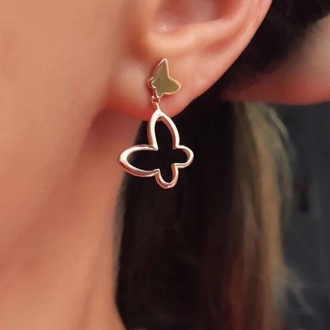 fashion women's animal stud earrings new metal butterfly earrings wholesale  NHOT232878's discount tags