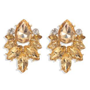 new fashion diamonds   petals water drops gemstones  big jewelry earrings nihaojewelry wholesale  NHJQ232858's discount tags