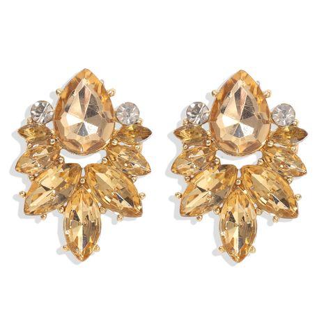 nueva moda diamantes pétalos gotas de agua piedras preciosas grandes joyas pendientes nihaojewelry al por mayor NHJQ232858's discount tags