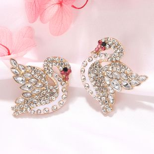New fashion  alloys studded with diamonds  atmosphere small fresh  alloy earrings nihaojewelry wholesale NHJQ232860's discount tags