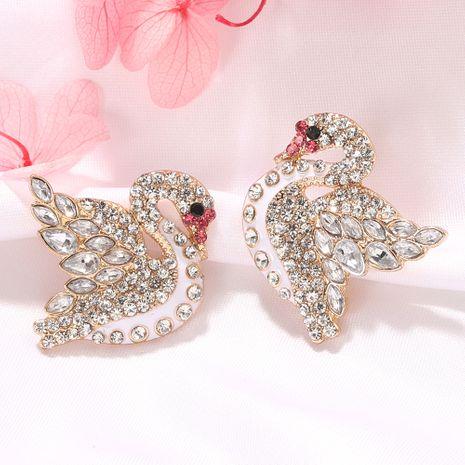 Nuevas aleaciones de moda tachonadas con diamantes atmósfera pequeños pendientes de aleación fresca nihaojewelry al por mayor NHJQ232860's discount tags