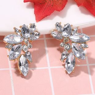 New fashion  personality  luxury alloy studded  color diamond earrings nihaojewelry wholesale NHJQ232862's discount tags
