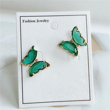 Korean butterfly multicolor stud earrings fashion long acrylic animal earrings wholesale NHVA232938's discount tags