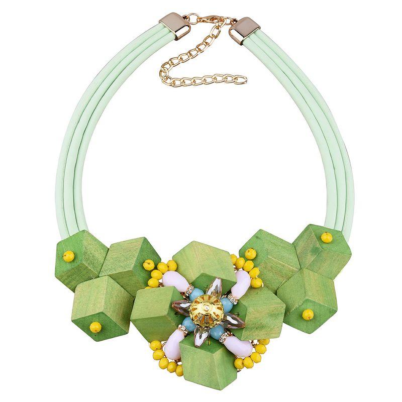 New handmade fashion flower  women's trendy short accessories wild flower necklace nihaojewelry wholesale NHVA232943