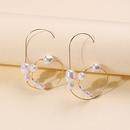 nouvelles boucles d39oreilles en perles de mode simples boucles d39oreilles en cercle gomtrique boucles d39oreilles en perles pour femmes corennes en gros NHMD232983