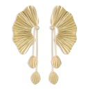 Exaggerated Oversized Fan Earrings Wholesale Womens Stud Earrings Leaf Earrings Long Retro Earrings  NHMD232992