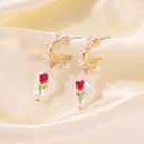 Baroque Pearl earrings Fashion Geometric Earrings Rose Imitation Pearl Earrings Geometric Earrings NHMD232993