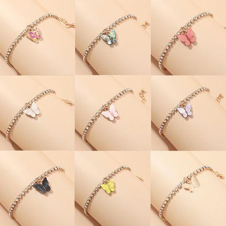 new   trend fashion full diamond bracelet bracelet  wild creative small butterfly bracelet nihaojewelry wholesale   NHNZ232994's discount tags