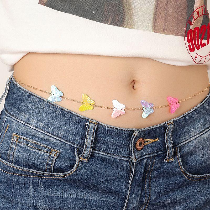 fashion  new  Butterfly waist chain simple beach sexy body chain wholesale NHNZ232995