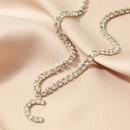 fashion new popular wild 26 English alphabet necklace full diamond choker necklace nihaojewelry wholesale  NHNZ232996