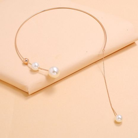 exaggerated pearl choker simple pearl tassel necklace fashion trendwomen's necklace wholesale NHKQ233007's discount tags