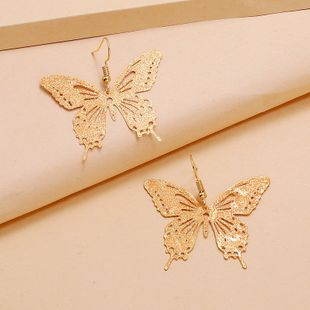 fashion new simple  sweet exaggerated hollow butterfly earrings  personality exaggerated  earrings nihaojewelry wholesale NHKQ233010's discount tags