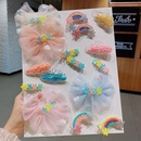 Childrens hairpin cute hairpin cloud clip hair accessories baby hair headdress clip bb clip  NHNA233016